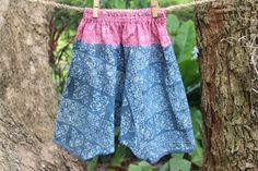 Bohemian Kids Harem Pants Trousers In Hmong Indigo Batik by DekDoi, $30.00