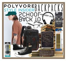 """""""Back To School"""" by giovanina-001 ❤ liked on Polyvore featuring Shore Leave, Converse, H&M, Kenzo, Pilot, men's fashion, menswear, backpacks, contestentry and PVStyleInsiderContest"""