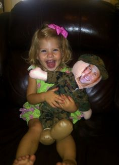 Kinsley Excited to see her Daddy!!!