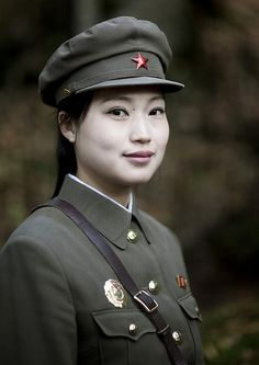 Army woman, North Korea
