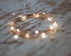 LED-Leuchten, Kupferdraht, rustikale Hochzeit, Herbst Hochzeit, Hochzeit, Hochzeit Dekor rustikal, Hochzeitsdekoration, Hochzeit Lichter, 19ft Scheune Long ™
