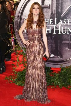 "Rose Leslie attends the European premiere of ""The Last Witch Hunter"" at The Empire, Leicester Square in London, UK."
