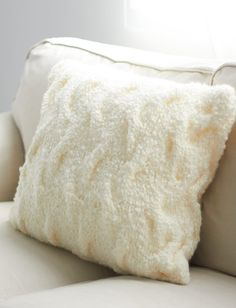 Shadow Cables Pillow in Bernat Soft Boucle. Discover more Patterns by Bernat at LoveKnitting. The world's largest range of knitting supplies - we stock patterns, yarn, needles and books from all of your favorite brands.