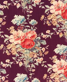 Dark background with vibrant floral pattern.