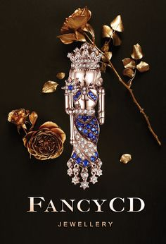 FANCYCD NUTCRACKER Collection- The Queen/ 18K Rose Gold, Sapphire