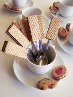 """Polymer clay cookies and coffee set - by """"Nele is me"""""""