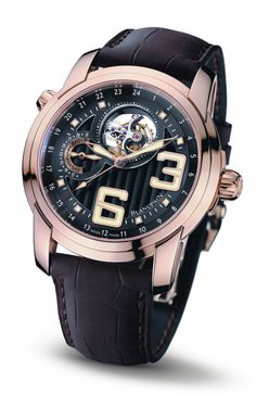 Blancpain L-evolution Tourbillon GMT watch in red gold