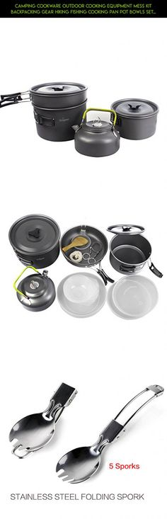 Camping Cookware Outdoor Cooking Equipment Mess Kit Backpacking Gear Hiking Fishing Cooking Pan Pot Bowls Set, Compact Durable Folding Lightweight (New 17 in 1) #shopping #plans #technology #tech #cooking #outdoor #products #drone #racing #camera #mug #fpv #gadgets #kit #parts