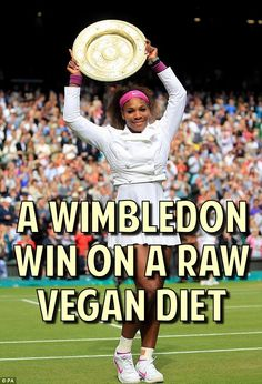 ☮ Vegalante: Serena Williams RAW VEGAN Wins Wimbledon!