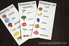 shopping list, restaurant, veterinarian printables