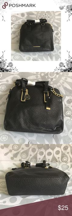 """{Rossetti} Large Black Faux Leather Crossbody Bag Convertible handle. Zipper compartment. Zipper closure. Bag Height is approx 11"""". Width is approx 13"""". Depth is approx 4 1/2"""". Strap Drop is approx 24 1/2"""". 90% Polyester/10% Polyurethane. Removable Shoulder Strap Included. Bundle for discounts! Thank you for shopping my closet! Rosetti Bags Crossbody Bags"""
