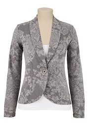 Floral Print Blazer - maurices.com $34 also comes in Plus sizes
