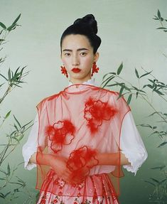 Simone Rocha shot by styled by hair by make-up by