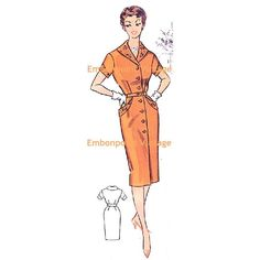 New to EmbonpointVintage on Etsy: Plus Size (or any size) Vintage 1950s Womens Workwear Dress Pattern - PDF - Pattern No 83 Ellen (11.73 AUD)