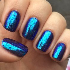 Gelish with Lecente glitter