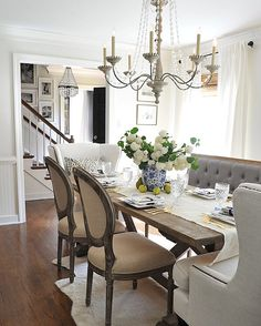 How To Create A Stylish Dining Nook With a Settee | Dining nook ...