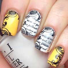 @ladyandthe_stamp yellow and white