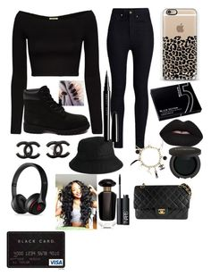"""All Black⚫️☑️"" by faithlovesfash ❤ liked on Polyvore"