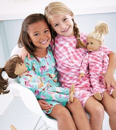 From CWDkids: Girls Short PJ Set and Doll Pajamas - perfect for Megan and her AG doll