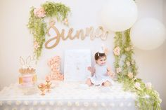 Some bunny is ONE! {Sienna's 1st Birthday} | Design + Florals by Pretty Please Design. Photo by: Melody Melikian.