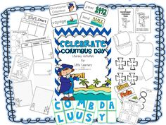 Celebrate Columbus Day a mini-unit full of literacy activities, vocabulary cards, mini-reader, craftivities, and much more! Kindergarten Social Studies, Social Studies Activities, Teaching Social Studies, Kindergarten Literacy, Literacy Activities, Holiday Activities, Free Homeschool Curriculum, Homeschooling, Thematic Units
