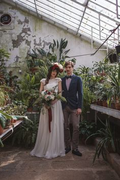 Moody and romantic greenhouse wedding in Slovenia | Unique wedding venue | Katja and Simon Photography