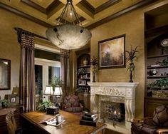 mediterranean home office by Rey Hernandez Interior Design