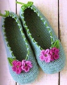 La Magia del Crochet: PANTUFLAS A CROCHET