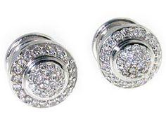 David Yurman 18K White Gold, Diamond Cufflinks
