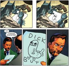Sir, a message from Batman