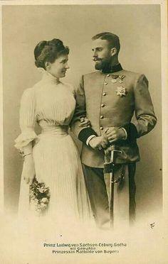 Prince Ludwig of Saxe-Coburg and Gotha and Princess Mathilde of Bavaria.A♥W