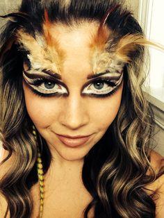 The final look! Owl make up for halloween! #sephoraselfie #halloween