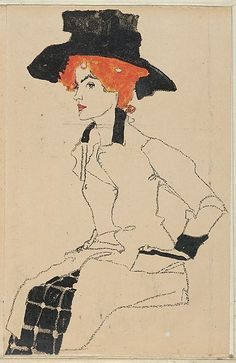Egon Schiele (Austrian, Tulln 1890–1918 Vienna). Portrait of a Woman, 1910. The Metropolitan Museum of Art, New York. Museum Accession, transferred from the Library (WW.288)
