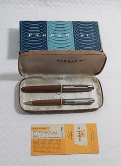 Parker Pen and Pencil set  Parker 51'  Vintage by munchiesattic