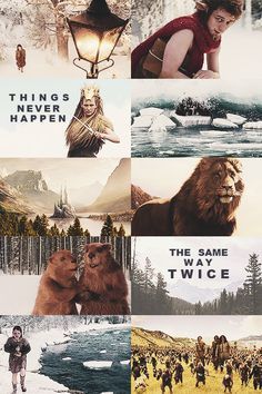 """Things never happen the same way twice, dear one."" ~Aslan"