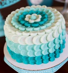 Petal Cake bleu