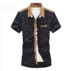 28ad4b8337 2016 Summer New Arrival Men S Clothing Hot-Selling Short-Sleeve Shirt  Casual Slim Fit