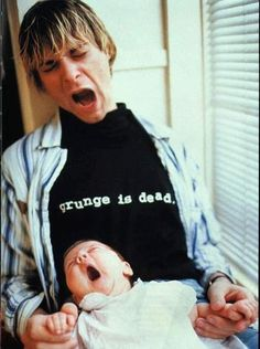 Kurt Cobain & baby Frances Bean Cobain