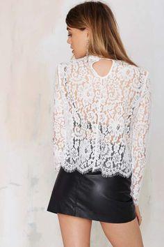 Keepsake White Electric Lace Top - Shirts + Blouses   Keepsake