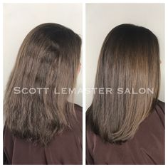 Brazilian Blowout Before and After-Hair by KENDRA at SCOTT LEMASTER SALON.
