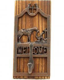 M&F WESTERN COWBOY PRAYER WELCOME WALL HOOK @ pcccountrydecor.com