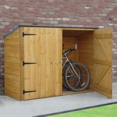 dCor design 6 x 2 Wooden Bike Shed