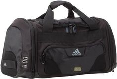 adidas Strength Duffel Bag -- The Strength Duffel is built with the gym consumer's needs in mind. This medium sized duffel fits inside a gym locker and has a roomy main compartment for storing all of your stuff. One end cap features a freshPAK ventilated compartment to keep your smelly stuff separate from the rest of your gear. This end cap also features a logo embroidered haul handle for ease of hanging your bag in a locker or grabbing your bag on the go.