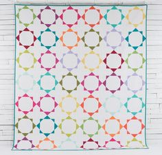 "Boundless Solids Crown Jewels by Amy Gibson Quilt Kit - 90"" x 105"""