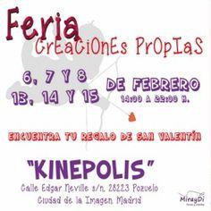 FERIA CREACIONES PROPIAS SAN VALENTIN 13, 14 Y 15 DE FEBRERO ^_^ http://www.pintalabios.info/es/eventos-moda/view/es/1955 #ESP #Evento #Ferias