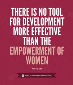 The key to development = empower women