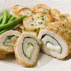 Spinach & Mozzarella Stuffed Chicken   | MyRecipes.com