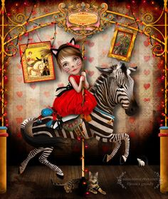 Art+Print++Carousel+Dreams++Medium+A4+Sized+8.5x11+or+by+solocosmo,+$15.00