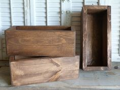 Rectangular Box Wooden Box Storage Box by RusticPrairieCottage
