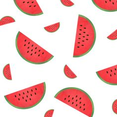 Watermelon Pattern Art Print by A Little Leafy | Society6